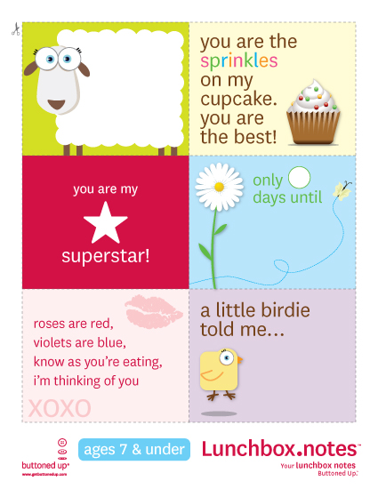 photo regarding Free Printable Lunchbox Notes for Husband identify Cost-free printable lunchbox notes preset 1 Â« Buttoned Up