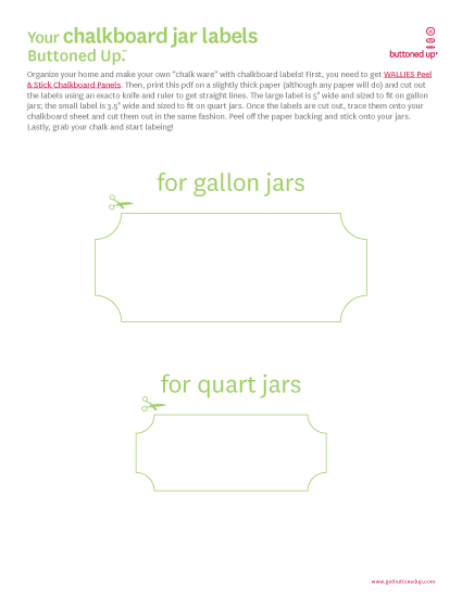Free printable chalkboard label templates Buttoned Up – Large Label Template