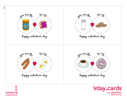 Free printable Valentines Day cards set 2 Buttoned Up – Free Printable Valentines Card