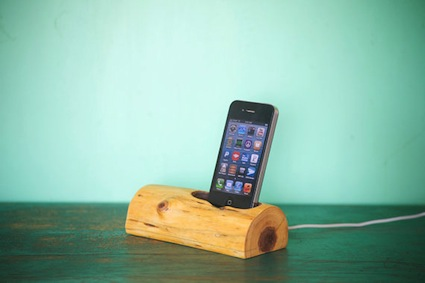 Phone station - wood