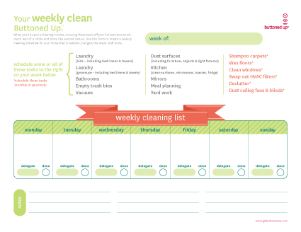 weeklycleaninglist