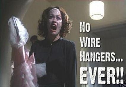 Eliminate wire hangers