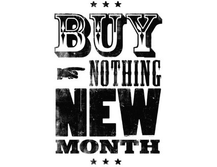 simplify your summer - one month choose to buy nothing new