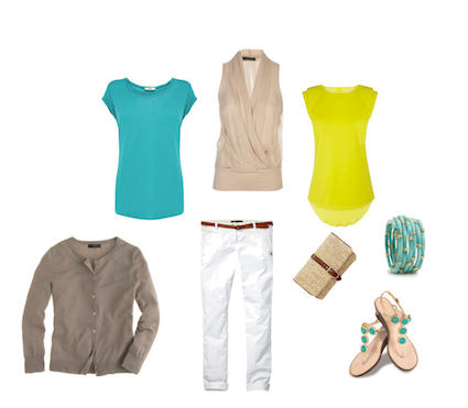 Simplify your summer wardrobe - ensure outfits mix and match