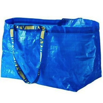 Keep a bag of sand toys in a large bag like this Ikea bag