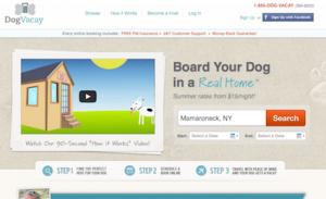 Dog Vacay - earn money for babysitting someone's dog